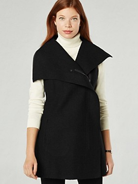 Tami Boiled Wool Tunic Vest