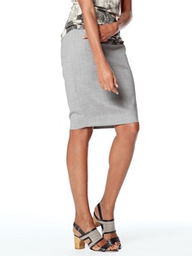 Ultra 9 Stretch Wool Pencil Skirt