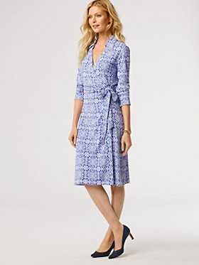 Medallion Print Wrap Knit Dress