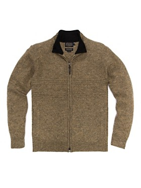 Shetland Zip-front Cardigan