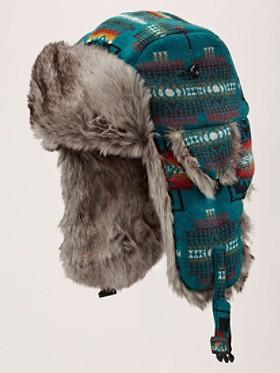 Jacquard Faux Fur Hat