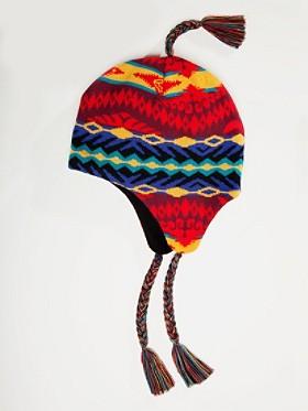 Knit Tassel Cap