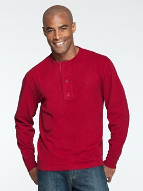 Long-sleeve Henley