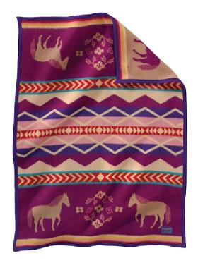 Painted Pony Crib Blanket