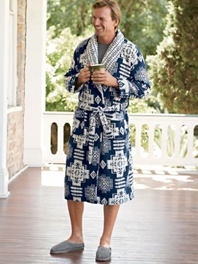 Chief Joseph Terry Jacquard Bath Robe