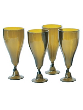 Wine Bottle Goblets, Set Of 4
