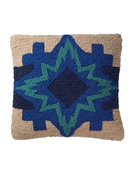 North Star Hooked Pillow