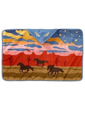 Wild Horses Hooded Baby Towel