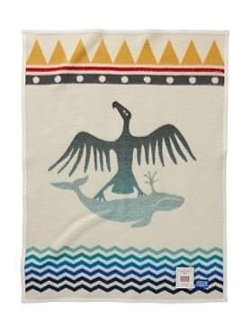 Thunderbird And Whale Crib Blanket