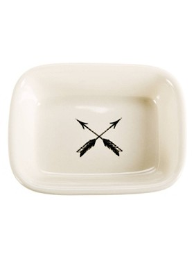 Crossed Arrows Soap Dish