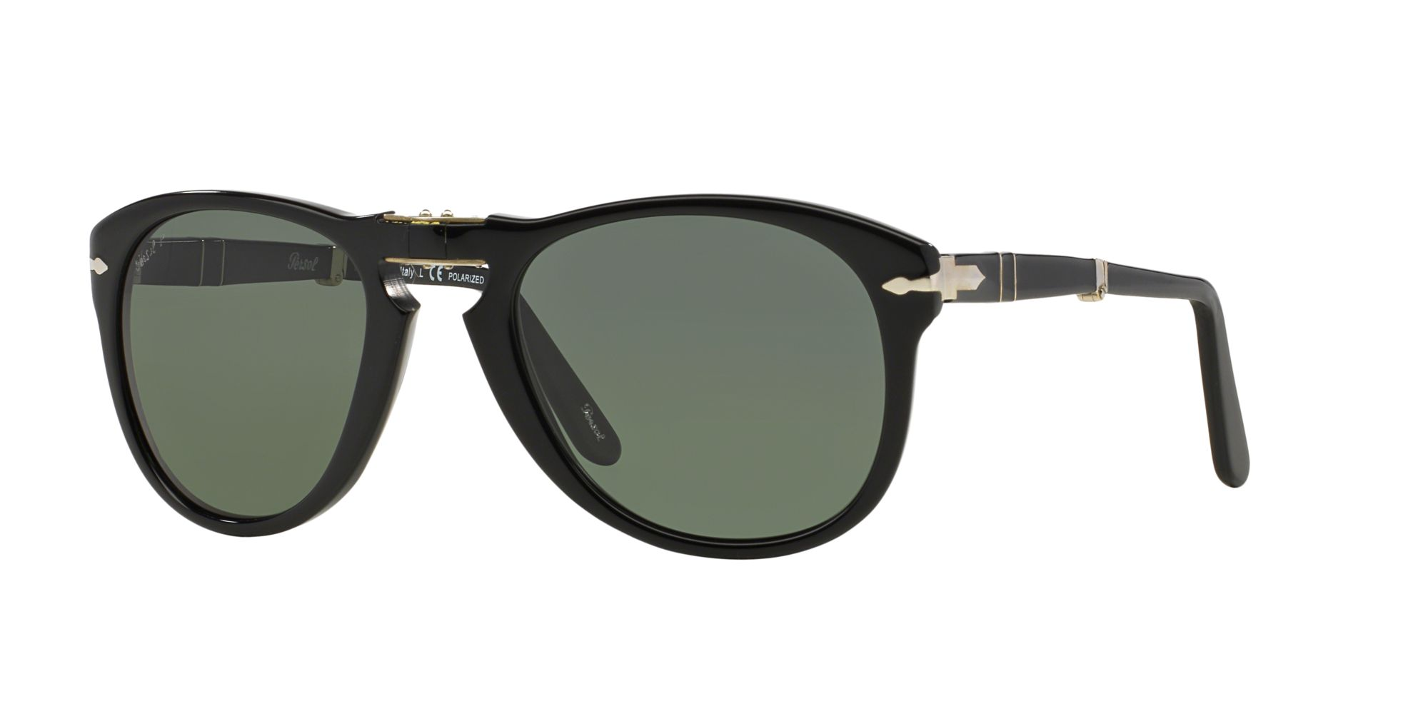 af678b4a0b Polarised lenses PO0714 - Black - Green Polar - Acetate