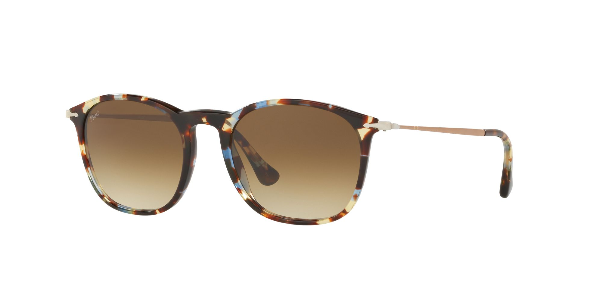 e96a56f824 Sun PO3124S - Havana Azure Brown - Clear Gradient Brown - Acetate ...