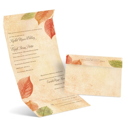 Fall Leaves - Invitation