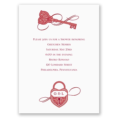 Lock and Key - Bridal Shower Invitation