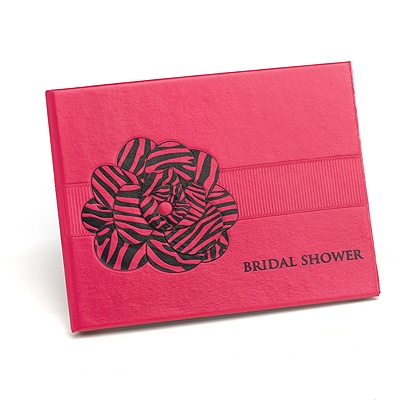 Zebra Flower Bridal Shower Guest Book