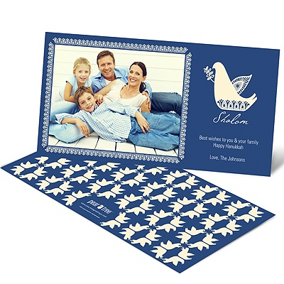 Delightful Doves Hanukkah Card