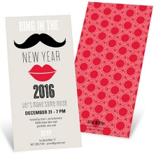 Vintage Vignette -- New Years Party Invitations