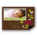 Joyful Photo Holiday Card Magnet
