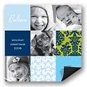 Christmas Collage Photo Christmas Card Magnet