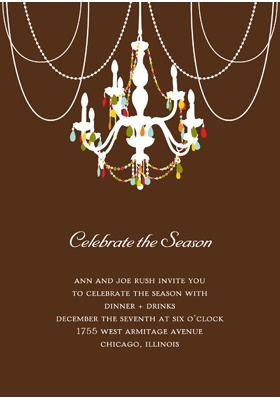 Chandelier Chic Party Invitation