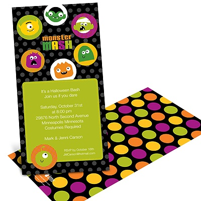 Monster Mash  - Halloween Party Invitation