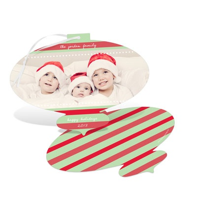 Merry Stripes Ornament Card