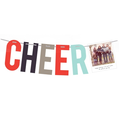 Modern Cheer Holiday Photo Card