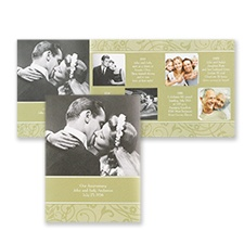 Golden Fls Photo Storyline Invitation Anniversary Invitations And Vow Renewal