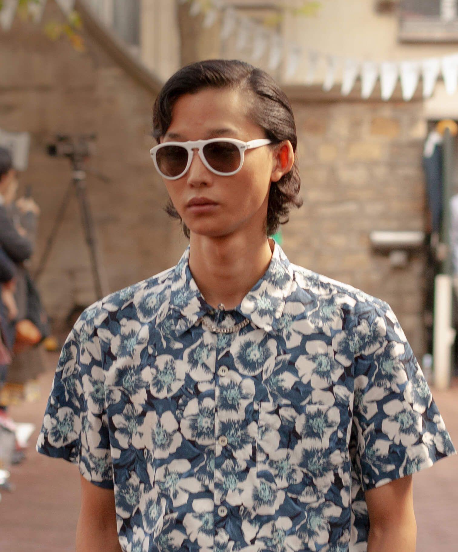 white sunglasses image hover