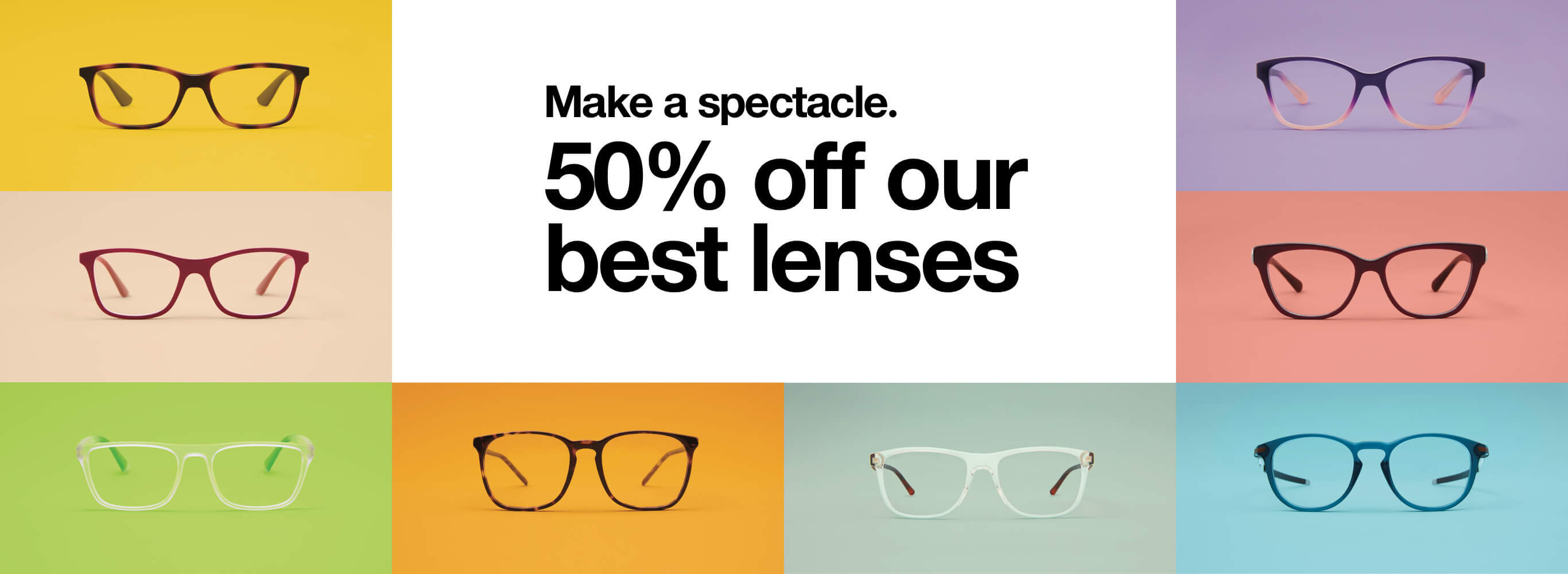 Shop eyeglasses! 50% off