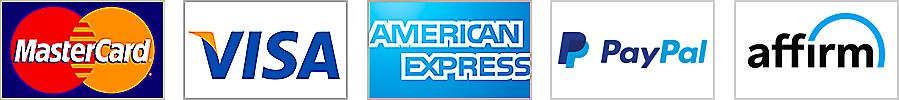 Mastercard, Visa, American Express, PayPal