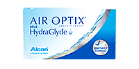 Box of Air Optix contact lenses