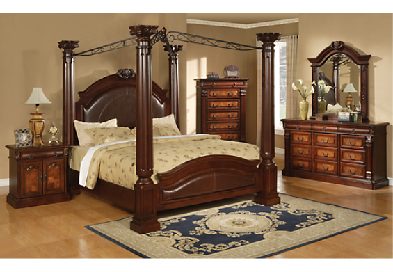 california king canopy bedroom sets bed mattress sale 15748 | sp333kp10 productdetails