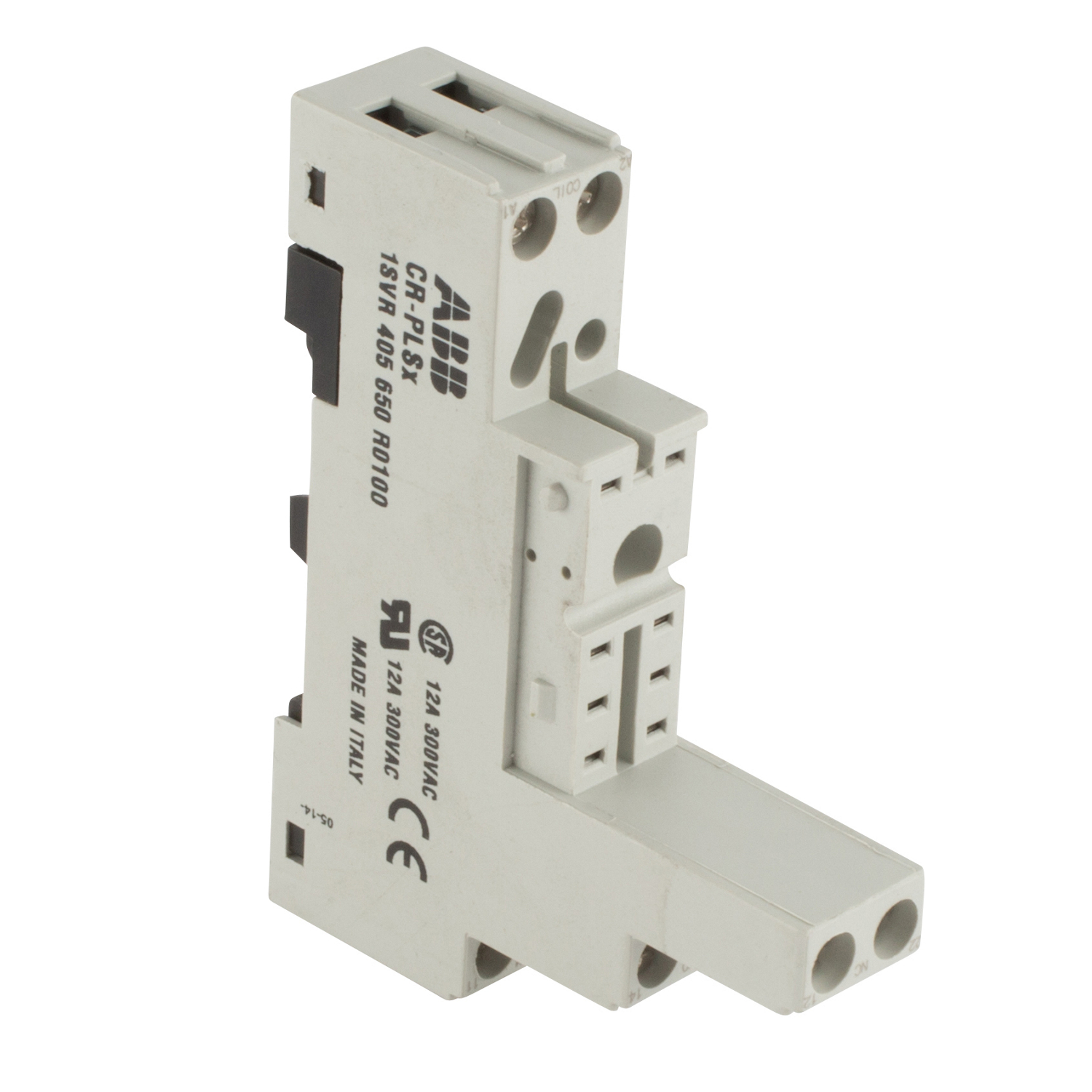 Cr Type Relay Socket For Mounting Control And A Logic Module Terminal Screw Connections