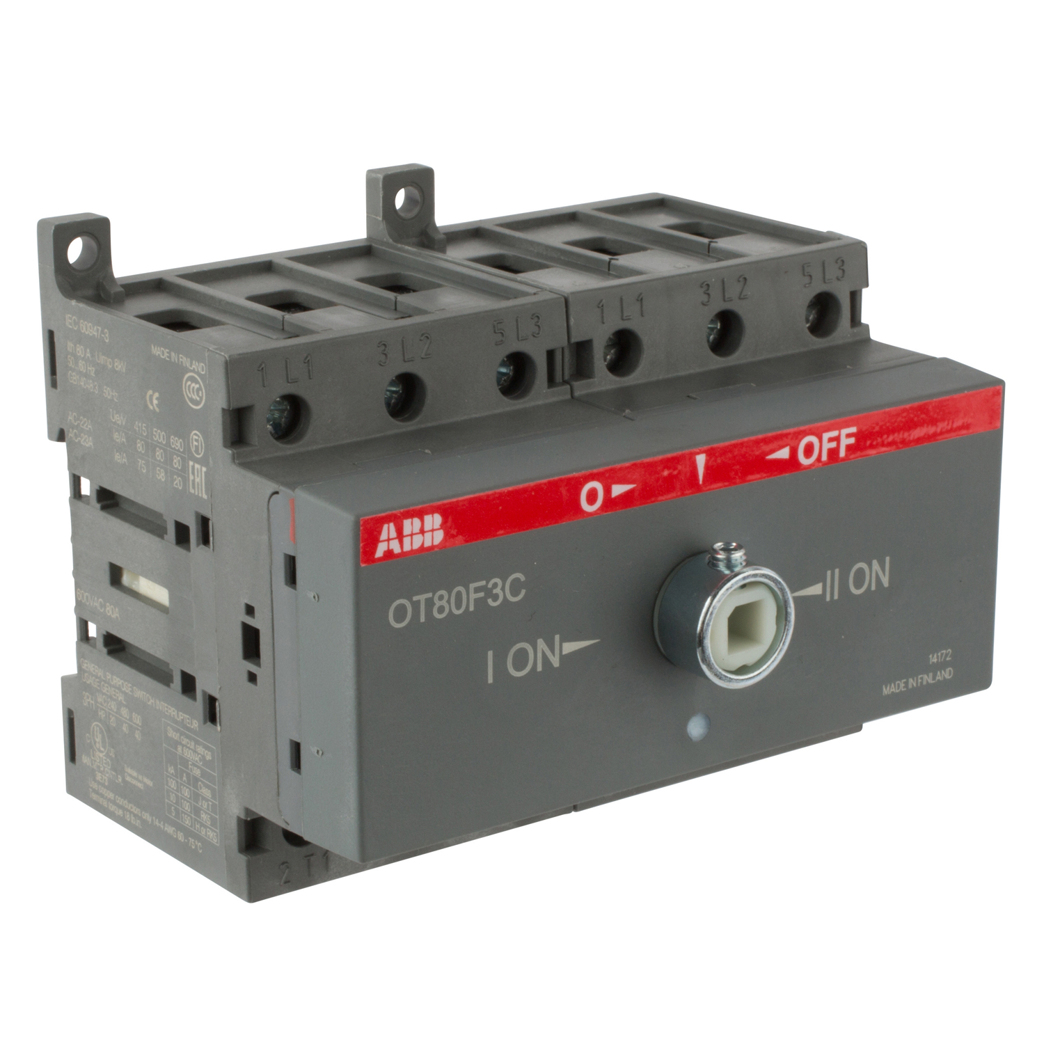 Product Listing Standard Electric Supply For 92 Abb Solid State Overload Relay Disconnect Switch Double Throw Front Operated Manual Non Fusible Series Ot80f3c