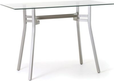 ... Rectangular Glass Top Counter Height Table. Mouse Over Image For A  Closer Look.