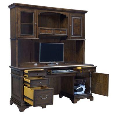 Aspenhome Essex 66 Inch Credenza Desk With Hutch