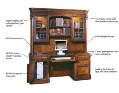 Aspenhome Napa Credenza Desk With Hutch