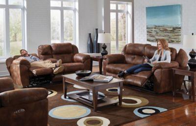 Catnapper Ferrington Power Lay Flat Reclining Sofa With