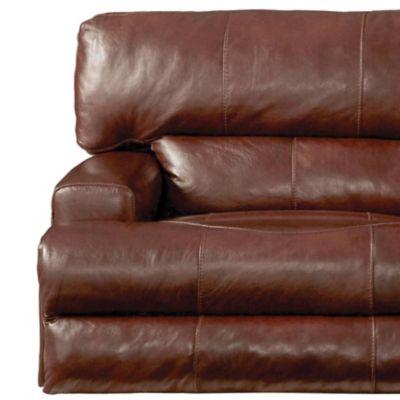 Catnapper Wembley Leather Power Lay Flat Recliner With