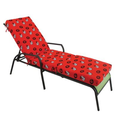 College covers university of georgia 3 piece chaise lounge for Chaise lounge cushion cover