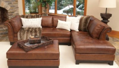 Mouse over image for a closer look. : lether sectional - Sectionals, Sofas & Couches