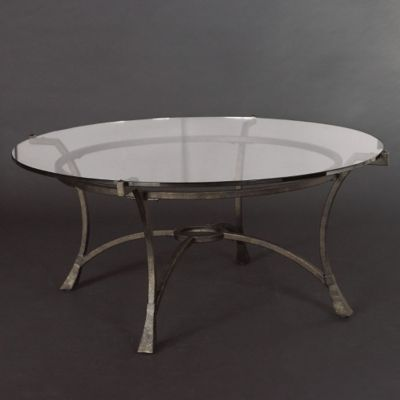 Hammary Sutton Round Glass Cocktail Table
