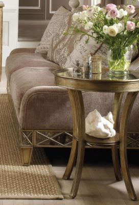 ... Hooker Sanctuary Round Mirrored Accent Table. Mouse Over Image For A  Closer Look.