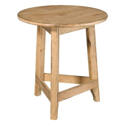 Kincaid Homecoming Vintage Pine Round Accent Table