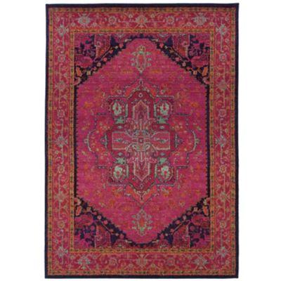 oriental weavers kaleidoscope 1332s oriental pink and blue area rug. Black Bedroom Furniture Sets. Home Design Ideas