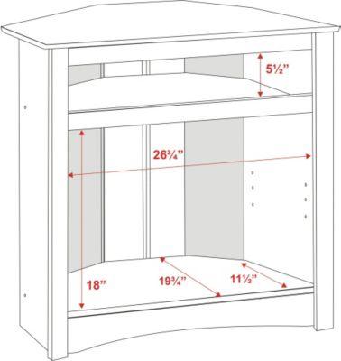 Captivating Prepac Tall Corner TV Cabinet In Black