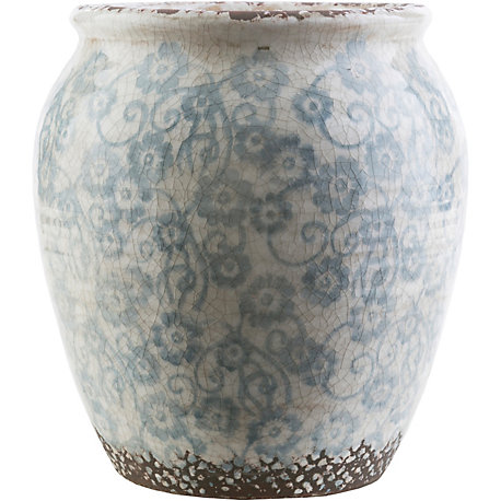 Surya Flora 11 Inch Table Vase In Slate