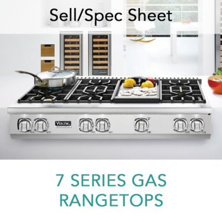 Spec Sheet For 7 Series Gas Rangetops