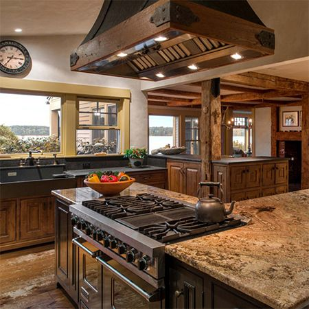 3 Kitchens That Embody Rustic Charm And Warmth By Mitchell Parker Houzz Viking Range Llc